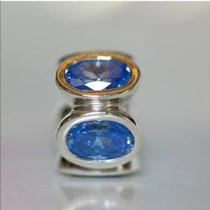 Pandora Jewelry - 790311BCZ Retired Pandora Blue Oval lights charm